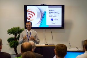 Gihan Behrmann Keynote, ScaleUp Cloud Breakfast im Rechenzentrum Hamburg